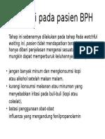 Edukasi Pada Pasien BPH