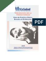 Prevencion de La Prematuridad
