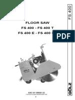 Golz FS400 Operators And Parts Manual