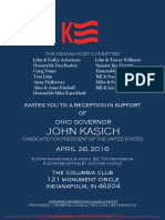 Reception for John Kasich