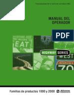 Operators Manual HS 1K 2k Español OM3757ES