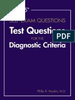 DSM 5 Self Exam Questions