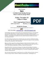 flyer - inez sound healing event nov 20