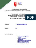 Informe Desempleo Peru Grupo 2