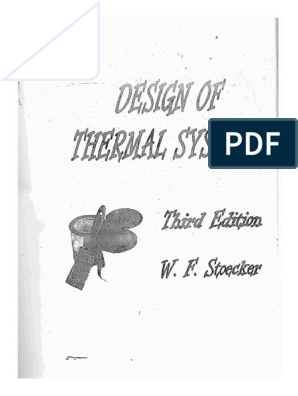 Design Of Thermal Systems Stoecker 3rd Edition Refrigeration Heat Exchanger