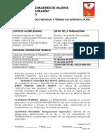 Contrato - Auxiliar Administrativa