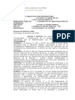 AUTO 1 DE FORMALIZACION DE INVESTIGACION PREPARATORIA