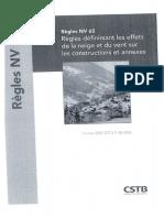Règles NV 65 (Février 2009) DTU P 06-002 - Règles Définissant Les Effets de La Neige Et Du Vent Sur Les Constructions Et Annexes, CSTB