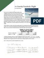 height of a zero gravity parabolic flight page 1 al