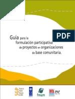 guia para la formulación participativa de proyectos