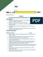 patricia page resume
