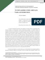 Lucas Arrimada, El Constitucionalismo Como Amenaza Para Los Derechos
