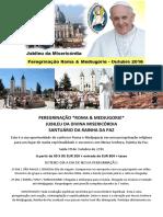 Peregrinação  2016  Roma e Medjugorje