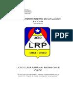 Reglamento de Evaluación 2015