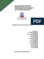 Informe de Marketing Preparacion Previa de La Negociacion