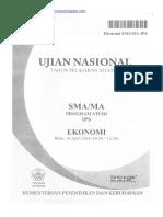 Naskah Soal UN Ekonomi SMA 2014 Paket 1