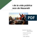 Ensayo de La Vida Pública de Jesús de Nazareth