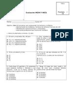 Evaluación MCM Y MCD