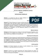 LEY ORGÁNICA DEL TRIBUNAL SUPREMO DE JUSTICIA