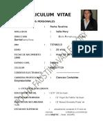 Curriculum Vitae de Pocha Imprimir