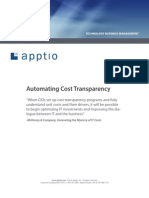 Automated Cost Transparency