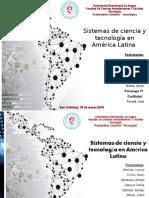 Sistemas de Ciencia y Tecnología en América Latina