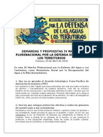 Demandas IV Marcha Agua (2016)