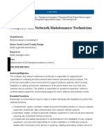 Computer and Network Maintenance Technician