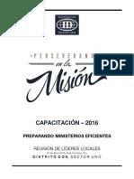 2016-04-16-PREPARANDO MINISTERIOS EFICIENTES-REUNIÓN LIDERAZGO-Sector 3-DTO2-Alumno