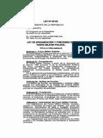 Ley 29182 Fuero Militar Policial