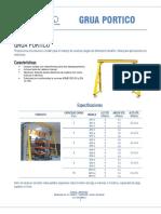 Brochure Gruas Portico Isem Ltda