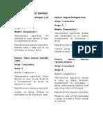 Observaciones o Recomendaciones Por Bimestre y Asignatura Secundaria