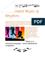 movement music rhythm handout