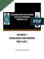 2GESTION2016 TEMA 1 Clase 2 Generalidades de Mensuras Topo I