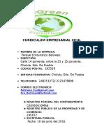 Curriculum Empresarial 2016