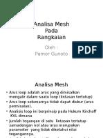 Analisa Mesh Pada Rangkaian