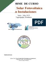 Informe Curso Energía Solar Fotovoltaica Con Instalaciones PIR FHIS 2013 Gudemos