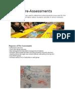 pre-assessment handout
