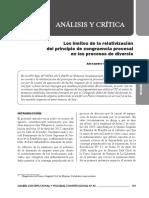 Los Límites de La Relativización Del Principio de Congruencia Procesal en Los Procesos de Divorcio