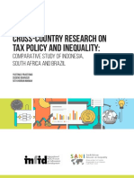 Cross Country Research TAX POLICY AND INEQUALITY