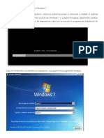 Pasos Previos a La Instalación de Windows 7