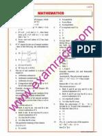 Mathematics Objective Questions Part 1