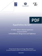 """""""Access to Justice in Central Asia"""" Report"""
