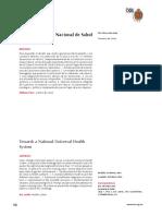 Cc141n - Hacia Un Sistema Nacional de Salud