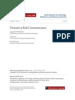 Diversity in Risk Communication