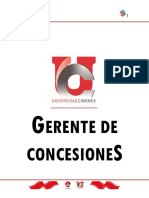 Manual de Gerente Conceciones Cinemex