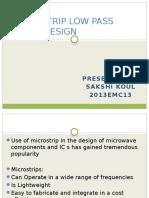 Microstrip Low Pass Filter Design