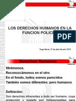 Derechos humanos en la función policial