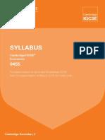 0455 Syllabus