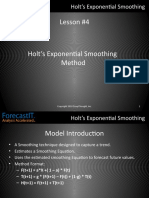 Forecast It 4. Holt's Exponential Smoothing